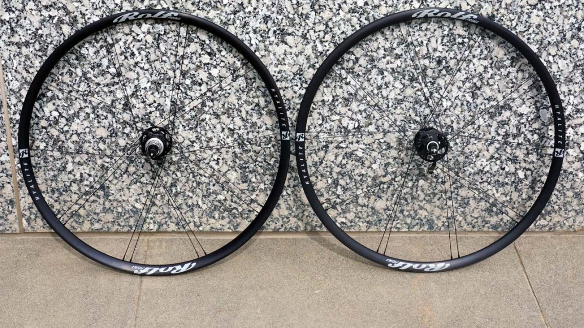 Rolf's new Hyalite adventure road wheelset comes with a 22mm internal width, and weighs in at 1505g for the pair. © Cyclocross Magazine