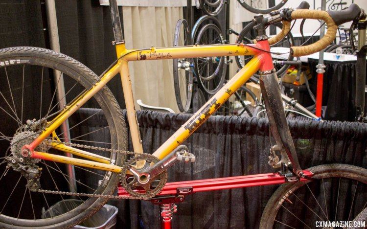 Josh Liberles' bike showcased the hydraulic and DynaSys options from Gevenalle in a 1x setup. NAHBS 2016. © Cyclocross Magazine