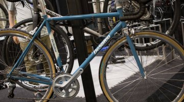 Desalvo Custom Cycles now offers complete bikes, with his $3650 Builders Special steel option. Steel frames start at $1650. NAHBS 2016. © Cyclocross Magazine