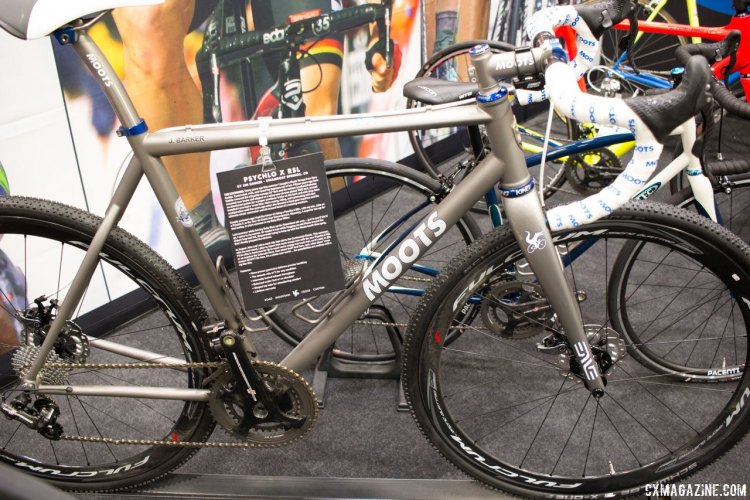 Campy Chorus EPS-Equipped Moots Pscyhlo-X RSL. NAHBS 2016. © Cyclocross Magazine