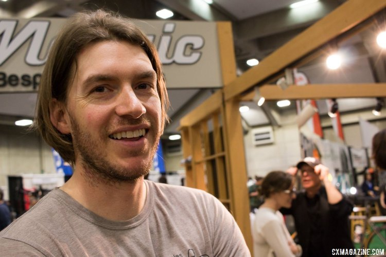 Mosaic Bespoke Bicycles' founder Aaron Barcheck cut his teeth at Dean, and now has built his own company to be one of the premier titanium builders. NAHBS 2016. © Cyclocross Magazine