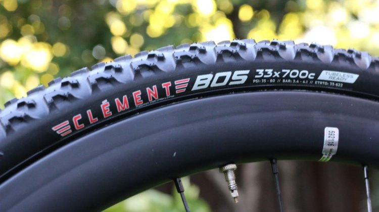 The Clement Bos is the brand's entry to the tubeless game. © Andrew Yee / Cyclocross Magazine