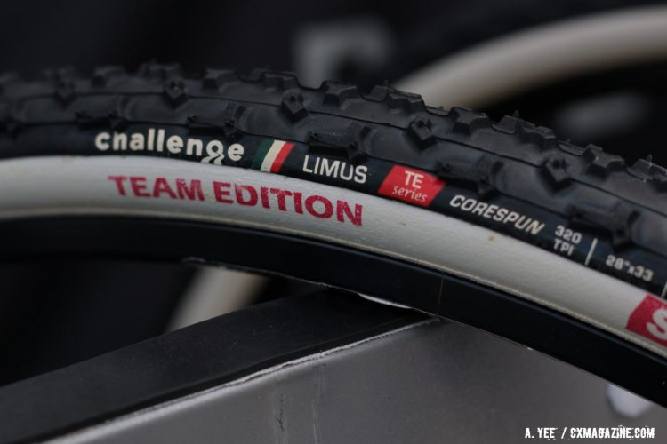 Challenge Tires' new Team Edition offerings feature distinctive sidewall graphics. © Andrew Yee / Cyclocross Magazine