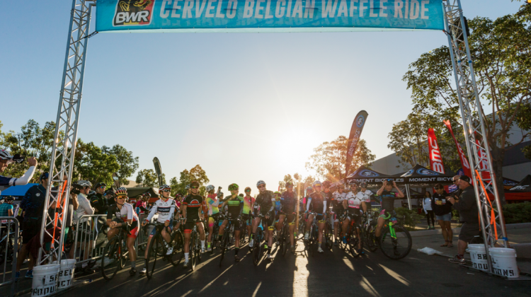 The start of the Belgian Waffle Ride. Photo courtesy: Belgian Waffle Ride, 2016