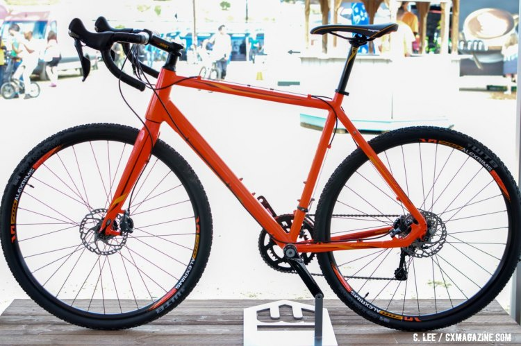 The Mongoose Soleus Expert gravel bike. 2016 Sea Otter Classic. © Clifford Lee / Cyclocross Magazine