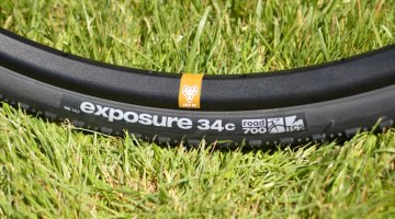 The WTB Exposure 34c tire is suited for smoother terrain, but still offers some measure of confidence thanks to a thoughtful tread pattern. © Clifford Lee / Cyclocross Magazine