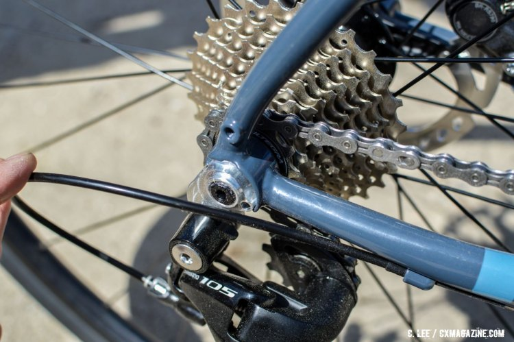 More custom dropouts from Breezer. This time for 12mm thru-axle. 2016 Sea Otter Classic. © Clifford Lee / Cyclocross Magazine