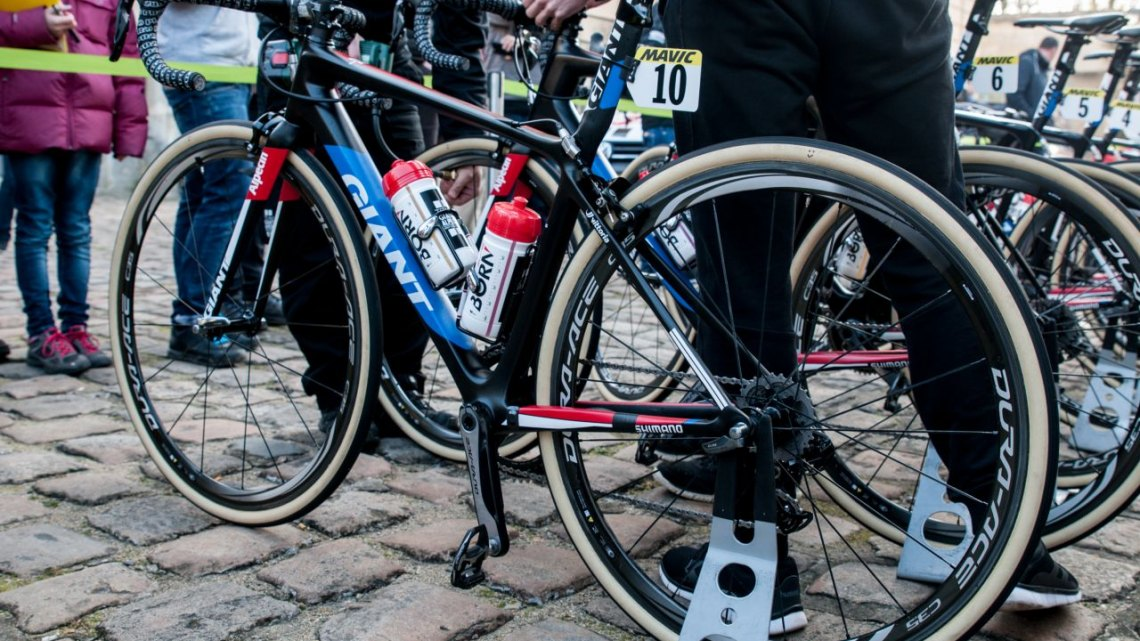 Lars van der Haar's Paris-Roubix bike. © Mario Vanacker / Cyclocross Magazine