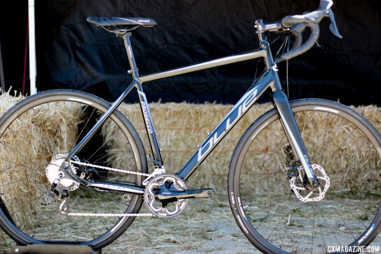 Blue Competition Cycles' Prosecco aluminum drop bar road/gravel bike. Sea Otter Classic 2016. © Cyclocross Magazine