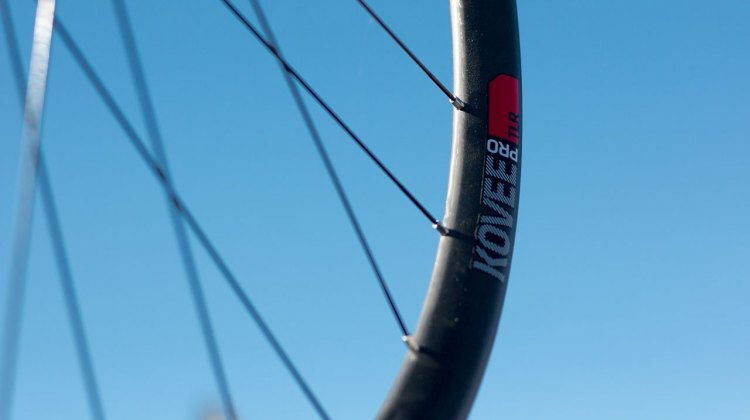 Bontrager's new $1200 carbon tubeless Kovee Pro TLR wheels. Sea Otter Classic 2016. © Cyclocross Magazine