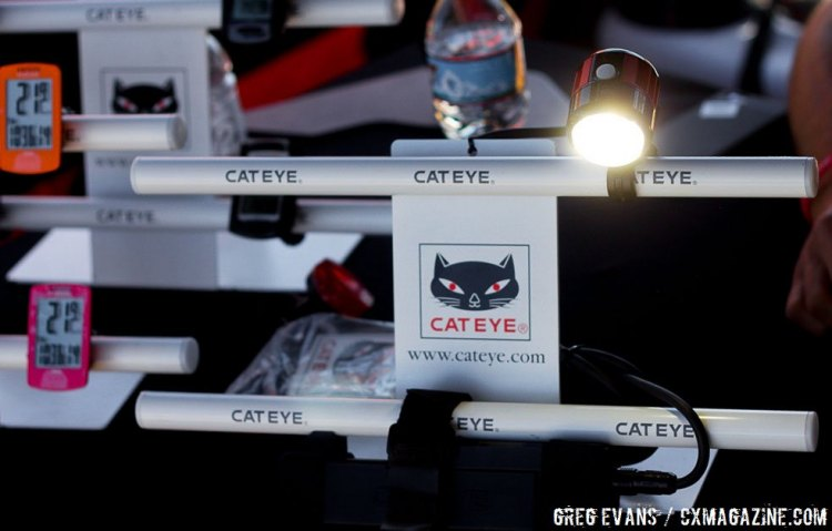 Cateye lights and computers. Sea Otter Classic 2016. © Greg Evans / Cyclocross Magazine