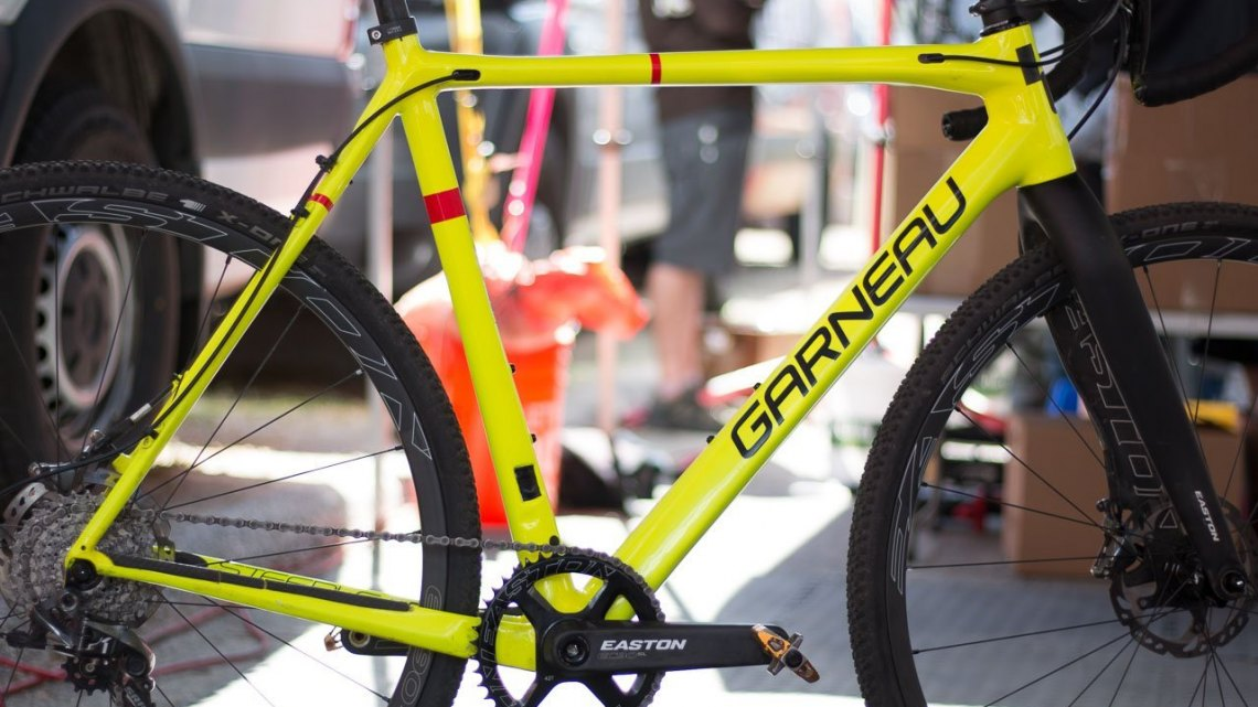 Craig Richey's Easton-equipped Louis Garneau Steeple XC cyclocross bike. Sea Otter Classic 2016. © Cyclocross Magazine