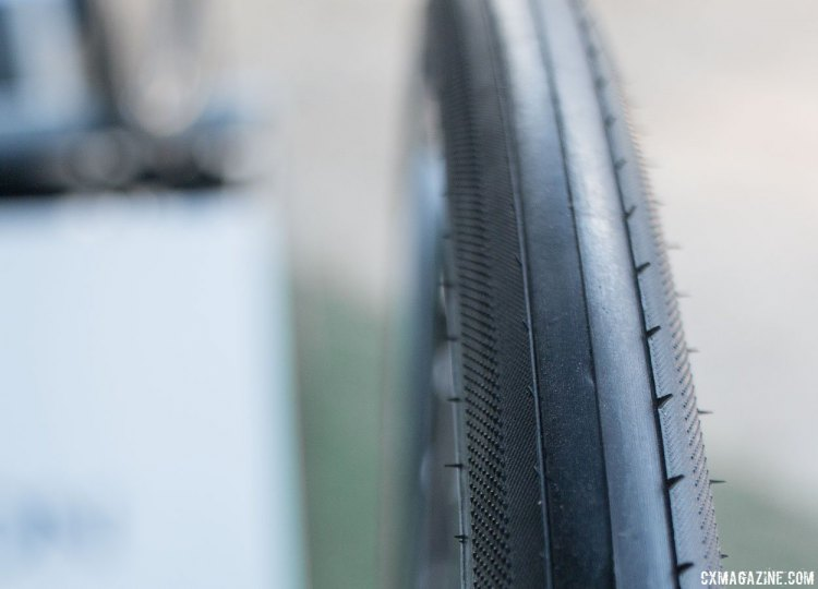 Primarily a road tire, the Hutchinson Sector 32 could be good for those on rough roads or hardback dirt. 2016 Sea Otter Classic. © Andrew Yee / Cyclocross Magazine.