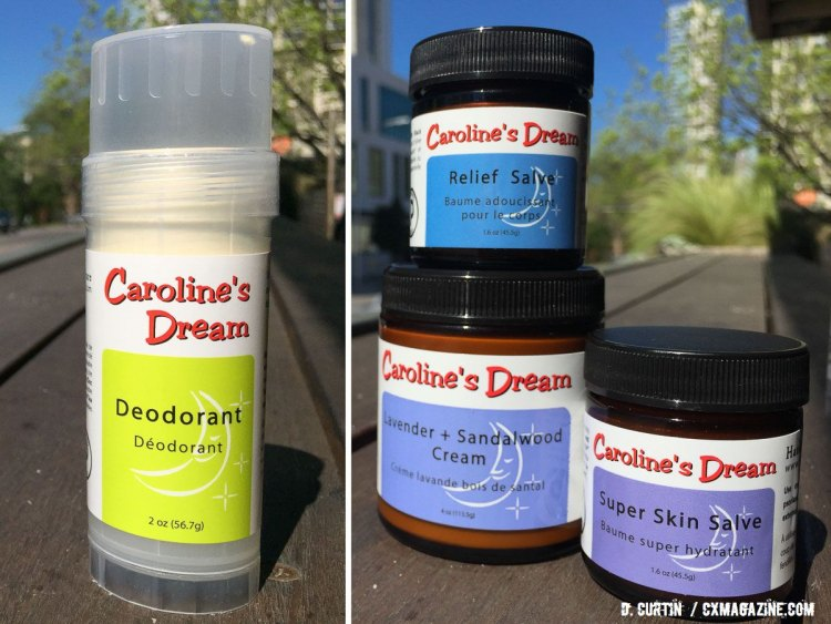 Caroline's Dream is set to release their own deodorant to go along with their most popular creams and salves. © Daniel Curtin / Cyclocross Magazine