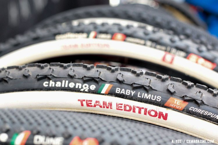 Challenge Tires' new Team Edition Baby Limus in profile. We're betting the tires popularity continues with the taller center knobs and rounder profile. © Andrew Yee / Cyclocross Magazine