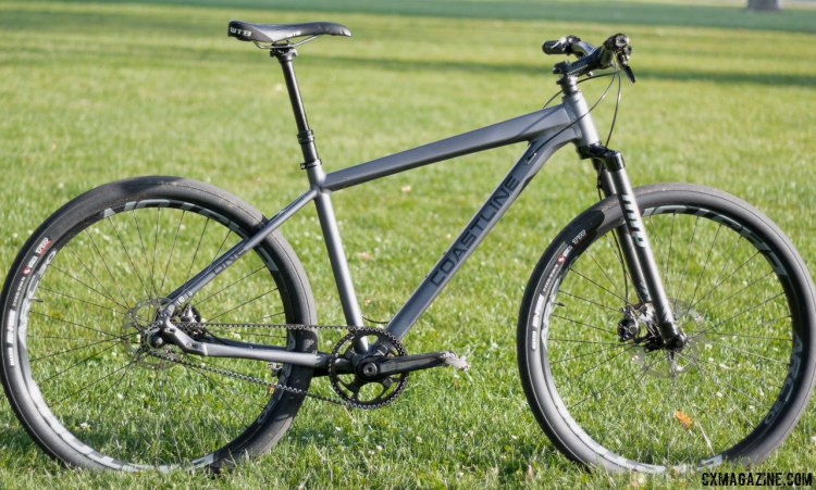 The $1850, 22lb Coastline Cycle Co. The One SSRX 650b bike. © Cyclocross Magazine