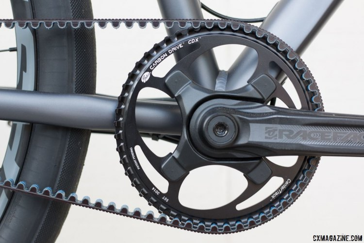 Race Face Aeffect crankset with 50t Carbon Drive CDX ring. Coastline Cycle Co. The One SSRX 650b bike. © Cyclocross Magazine