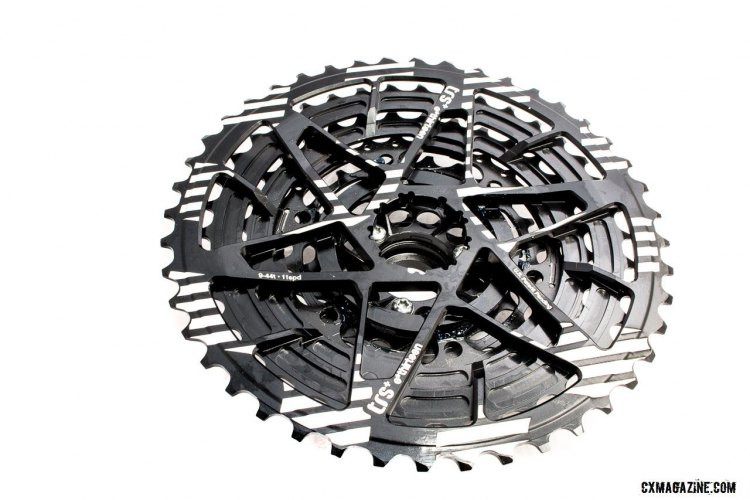 Detailed machining on the E*Thirteen TRS+ 9-44 cassette. ©️ Cyclocross Magazine