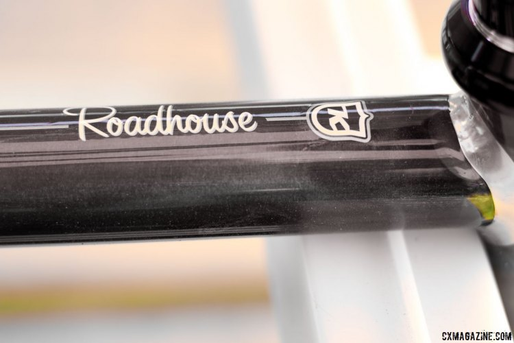 Kona's new 2017 Roadhouse drop bar disc brake bike features retro style graphics. Sea Otter Classic 2016. © Cyclocross Magazine