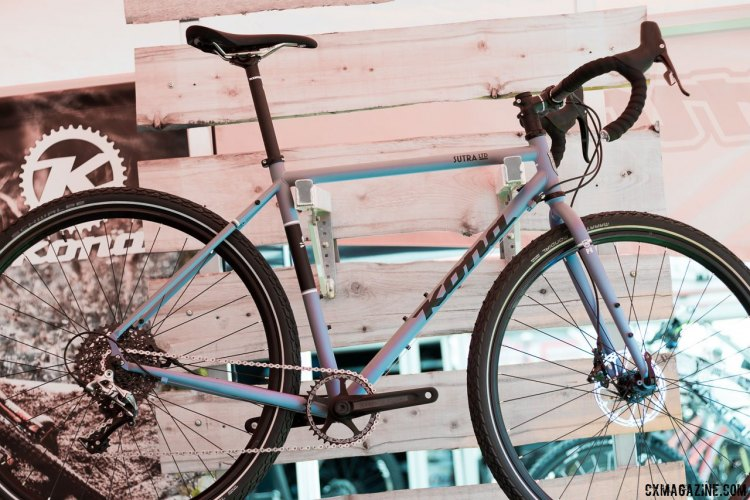 Kona's Sutra Ltd features a 1x drivetrain and fat tire clearance. Sea Otter Classic 2016. © Cyclocross Magazine