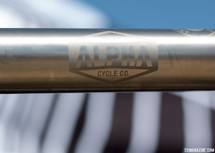 Despite the Alpha Cycle Co. name, the Ndvr Ravi is built by Lynskey. Sea Otter Classic 2016. © Cyclocross Magazine