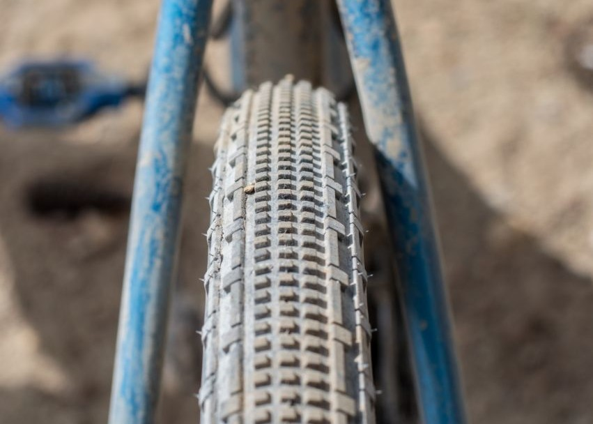 Farina's Panaracer Gravel King SK tread. 2016 Lost & Found. ©️ Clifford Lee / Cyclocross Magazine