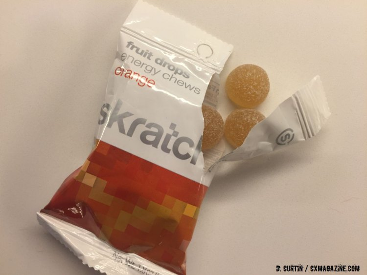 Skratch Fruit Drops come in 10-piece packages, which counts as two servings. ©️ Daniel Curtin / Cyclocross Magazine