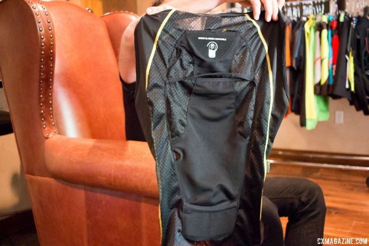 Alpinestars' Paragon vest seems like it has plenty of potential for long gravel events, with a built-in hydration slot that could help keep your core temperature down and hydration levels up. $114.95. Press Camp 2016. © Cyclocross Magazine