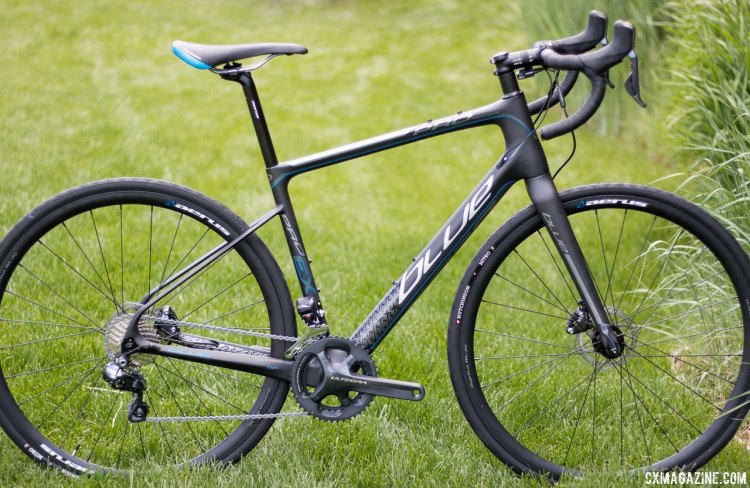 Blue Bicycles Prosecco EX gravel bike comes with Shimano Ultegra Di2 and RS785 hydraulic levers and will retail for just $2699. Press Camp 2016. © Cyclocross Magazine