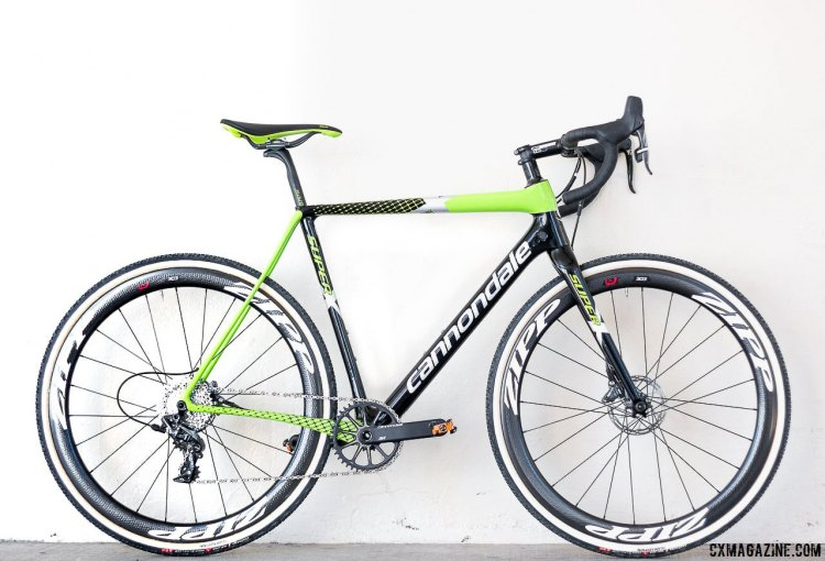 Our test bike: 2017 Cannondale SuperX Team Cyclocross bike with Zipp 303 tubular wheels and Challenge Team Edition tires. $8499.99. © Cyclocross Magazine