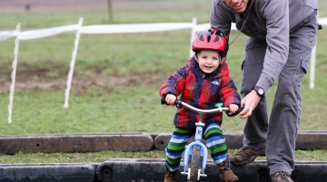 Happy Father's Day! Thanks for the helping hand over the many barriers we've encountered. © Cyclocross Magazine