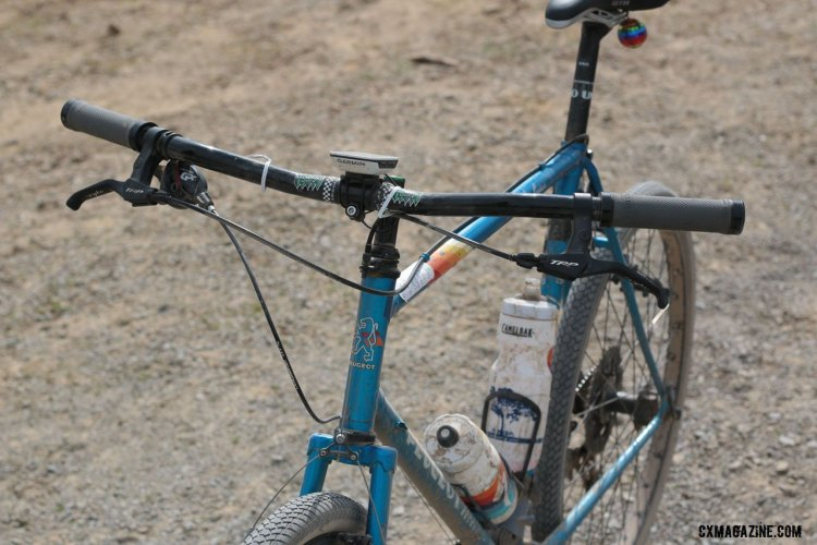 A pretty clean looking, one-off set-up for this Lost & Found finisher. Lost and Found 2016. © Cyclocross Magazine