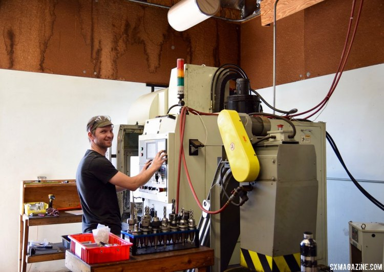 One of Paul's engineers ready to start a new CNC machining batch. photo: Billy Sinkford