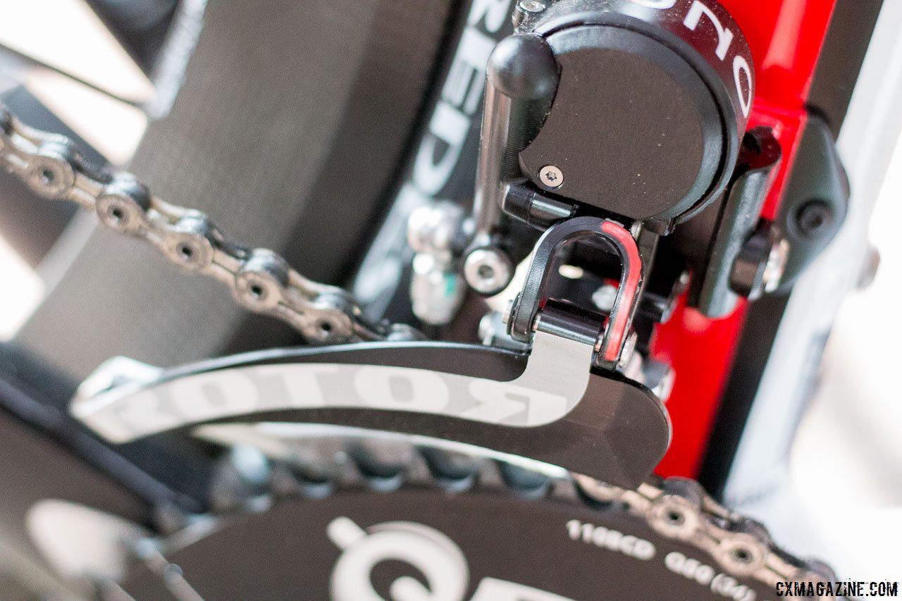 a4012d0b3e0 The Uno hydraulic shifting front derailleur offers a trim setting in each  chainring configuration, ...