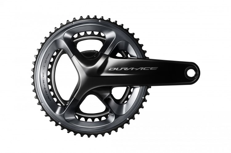 The Shimano R9100 Dura-Ace crankset. Photo courtesy Shimano