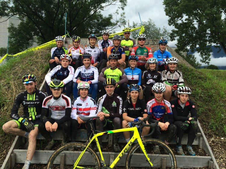 The class of 2016. UCI CX Training Camp 5.0. Photo courtesy Geoff Proctor.