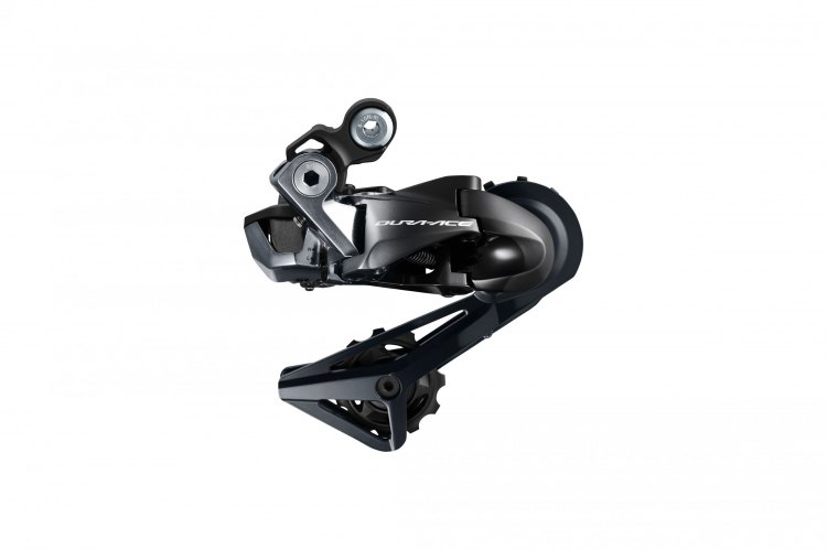 The Shimano R9150 Di2 rear derailleur. How long before we see a Dura-Ace Shadow Plus rear mechanism? Photo courtesy Shimano