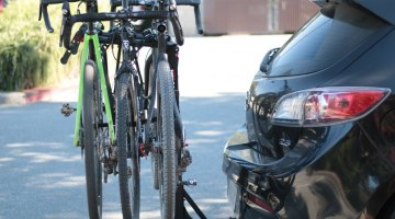 Allen Sports S535 Premier 3-bike hitch rack will hold three bikes securely in place. © Cyclocross Magazine