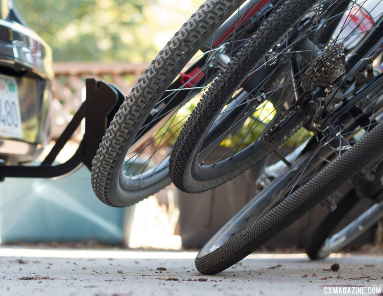 Three bikes? The third may hit the ground when you swing the rack down. Allen Sports S535 Premier 3-bike hitch rack. © Cyclocross Magazine