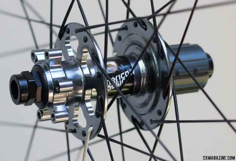 American Classic MTB Race 29er tubeless wheels are for six bolt rotors, but American Classic has said it's moving to CenterLock. © Cyclocross Magazine