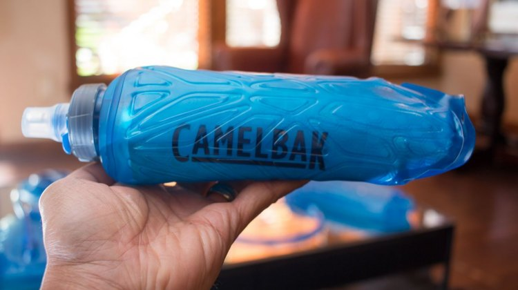 Camelbak has a Quick Stow Chill Flask, with insulation, perhaps perfect for a hot, early-season cx race. $28. Press Camp 2016. © Cyclocross Magazine