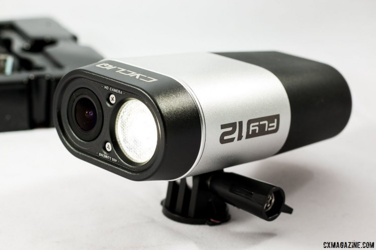 The Cycliq Fly12 headlight / HD camera combo is always recording video with or without the light on. The light has nine different modes. © Cyclocross Magazine