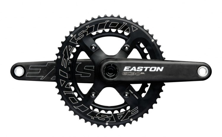 The new Easton EC90 SL crankset will also come with a double ring option this fall.