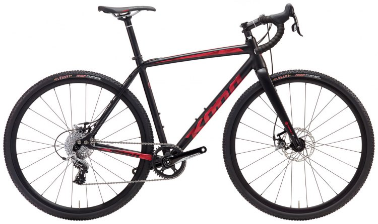 The Private Jake might be the unheralded star of the Kona line. The $1999 Rival 1 alloy bike features short 42cm chainstays, a low BB drop, Clement MXP tires and a carbon fork. It's said to be at home on a cyclocross course or gravel race.
