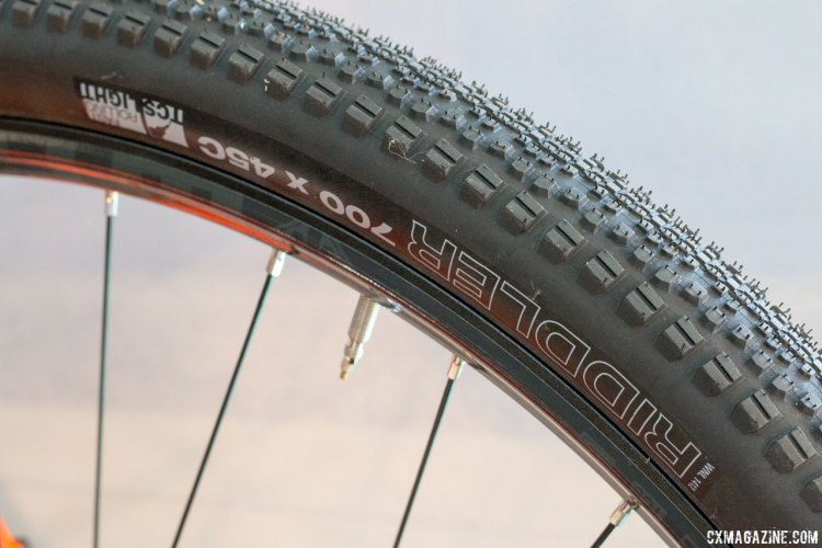 The 700x45 Riddler tires add big adventure capability to the steel 2017 Kona Sutra LTD. © Cyclocross Magazine