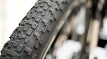The New 40c Maxxis Rambler does well on hardpack gravel, and is a tempting high-volume option for bumpy cyclocross races. © Cyclocross Magazine