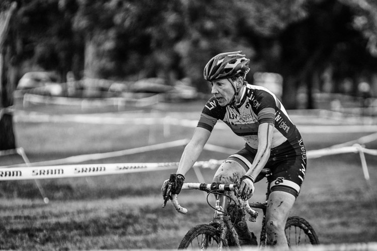 Gayle Brownlee took the runner up spot after reeling in Black in the second half of the race. New Zealand's 2016 Cyclocross National Championships. © Digby Shaw