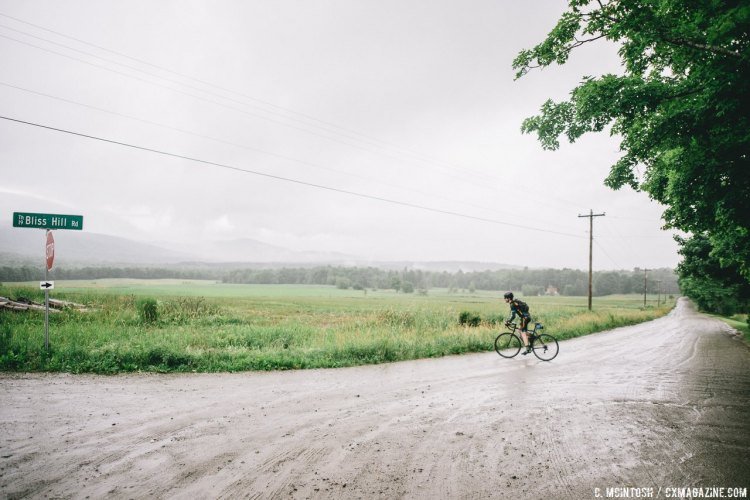 A scenic little grinder in Morrissville VT. © Chris McIntosh / Cyclocross Magazine
