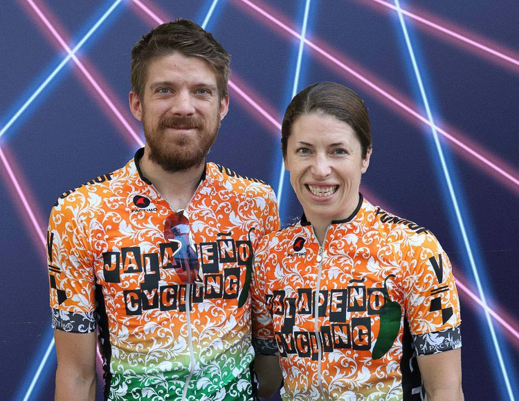 The husband and wife team of the Jalapeño Cycling Team: Andrew Reimann and Kathryn Cumming
