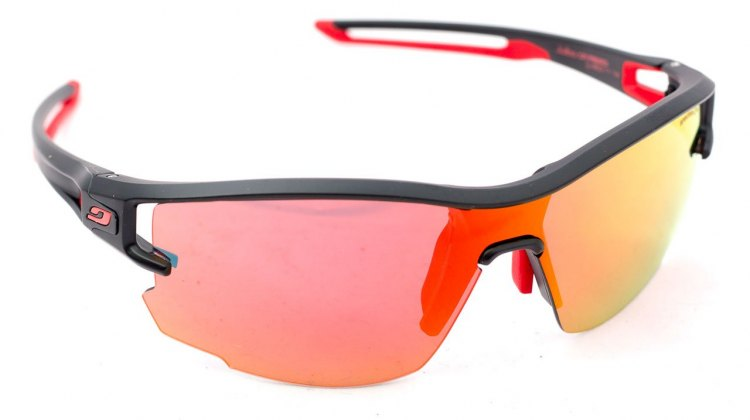 Julbo Aero vented sunglasses with the Spectron red mirrored lens. © Cyclocross Magazine